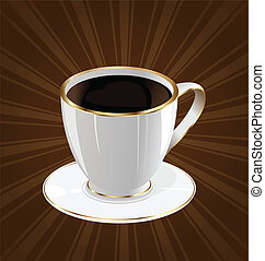 årgång, kaffe, bakgrund, kopp