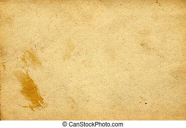 årgång, papper, bakgrund, tom
