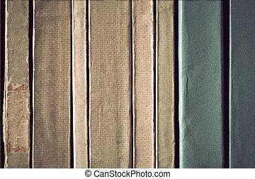 årgång, papper, baksida, böcker