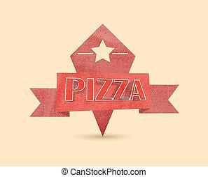 årgång, pizza, etikett