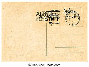 årgång, postcard.