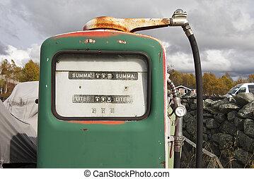 årgång, pumpe, gas