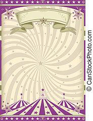 årgång, purpur, cirkus