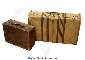 årgång, resa, suitcases
