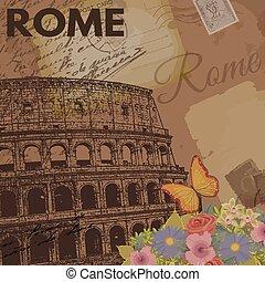 årgång, rom, affisch