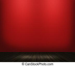årgång, rum, bakgrund, röd