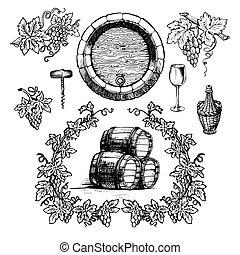 årgång, set., winemaking, vin