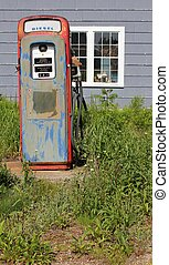 årgång, singel, gas pumpa