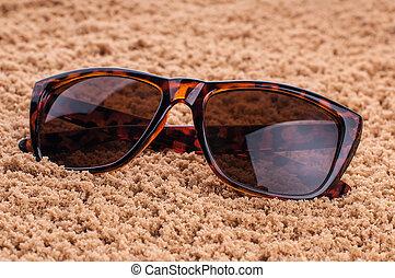 årgång, solglasögon, på, struktur