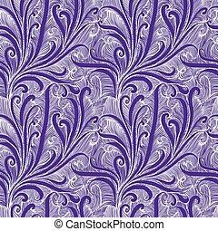 årgång, stil, blommig, seamless, mönster, in, violett, color.