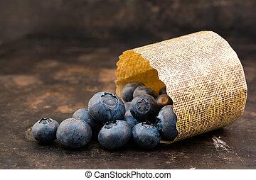 årgång, svart, blåbär, bakgrund, ingredienser