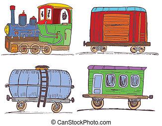 årgång, tåg, vagnar