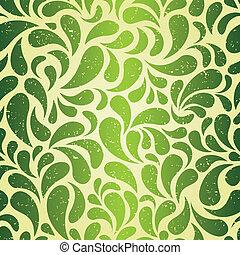 årgång, tapet, grön