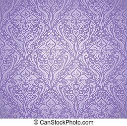 årgång, tapet, lyxvara, violett