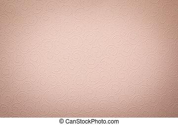 årgång, urblekt, lätt, rosa bakgrund, med, runda, organisk,...