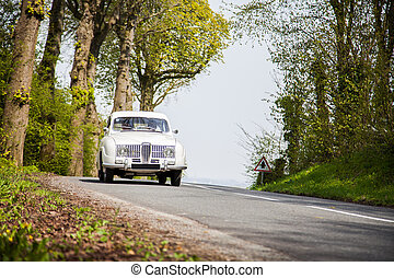 årgång, väg, medel, bil, klassisk
