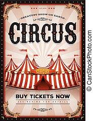 årgång, västra, cirkus, affisch