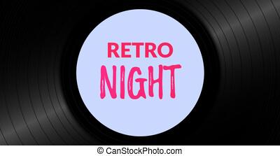 årgång, vinyl teckna uppe, bakgrund., retro, musik, bakgrund, template.