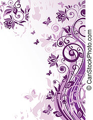 årgång, violett, baner