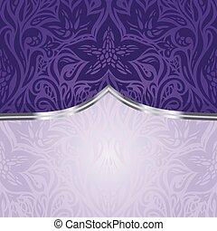 årgång, violett, design, inbjudan