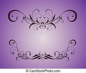 årgång, violett, ram