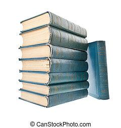 Årgång, vit, böcker