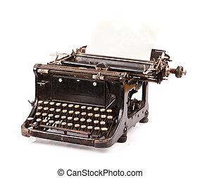 Årgång, vit, skrivmaskin
