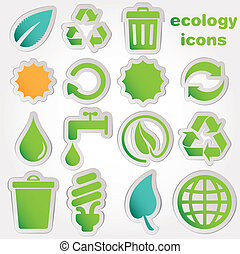 återanvända, ikonen, ekologi, collectio