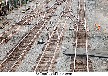 återstående tid spåret, fyllda, järnväg, ram