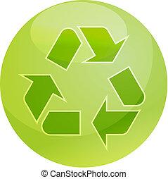 återvinning, eco, symbol