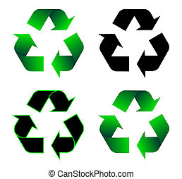 återvinning, ikon