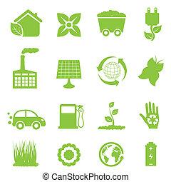 återvinning, och, ren energi