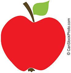 æble, rød