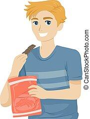 æd, illustration, jerky, mad, dreng, teenager