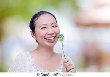 æde kvinde, grønsager