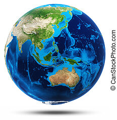 ægte, bjerge, australien, asien, south-east, lettelse