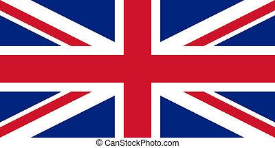 ægte, farver, flag, engelsk