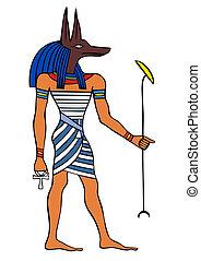 ægypten, gud, anubis, ancient, -