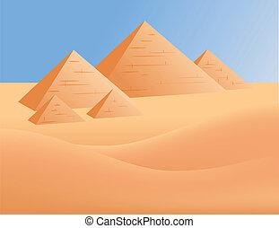 ægypten, pyramider