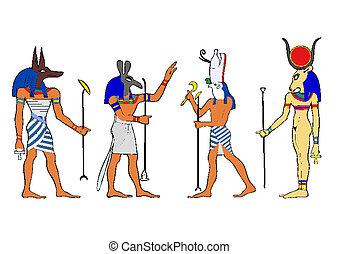 ægyptisk, guder, gudinde