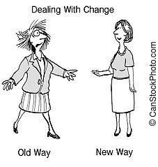 ændring, ledelse