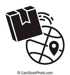 æske, firmanavnet, enkel, globale, fødsel, ikon