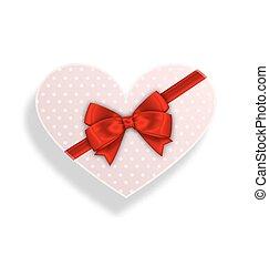 æske, stemningsfuld, gave, valentines, bøje sig, dag, bånd