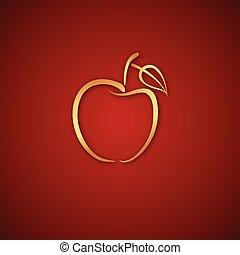 Çizgi elma logosu