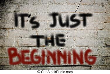 è, giusto, il, inizio, concetto
