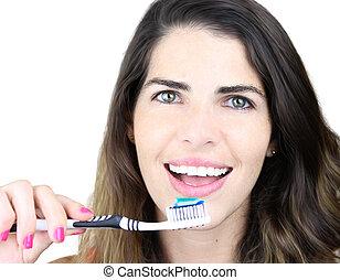 é, tudo, aproximadamente, higiene dental