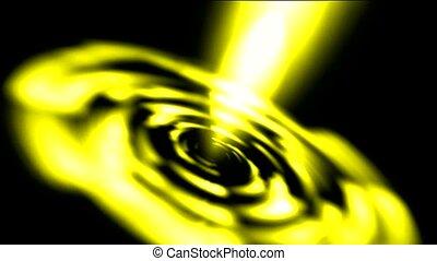 éblouissant, laser, doré, rayons légers