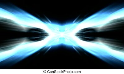 éblouissant, lumière, ciel, laser, rayons