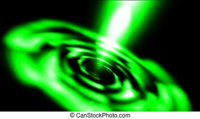 éblouissant, rotation, lumière laser, rayons