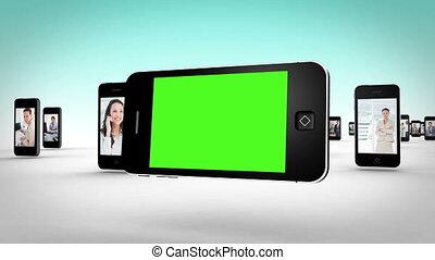 éboulis, vidéos, business, smartphone